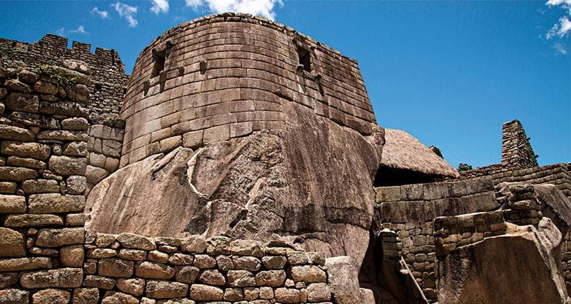 Torreãodo Templo do Sol em Machu Picchu