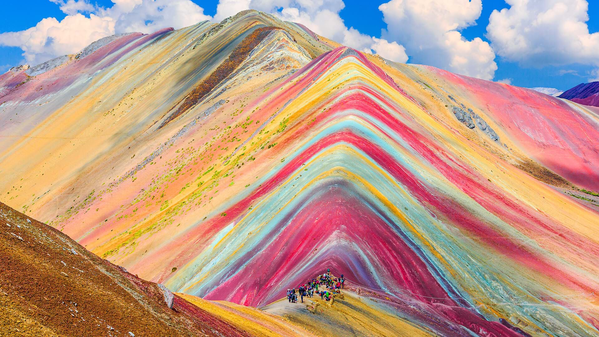 Vinicunca, the beautiful mountain of seven colors