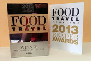 "Destination of the Year"" - Food and Travel Magazine"