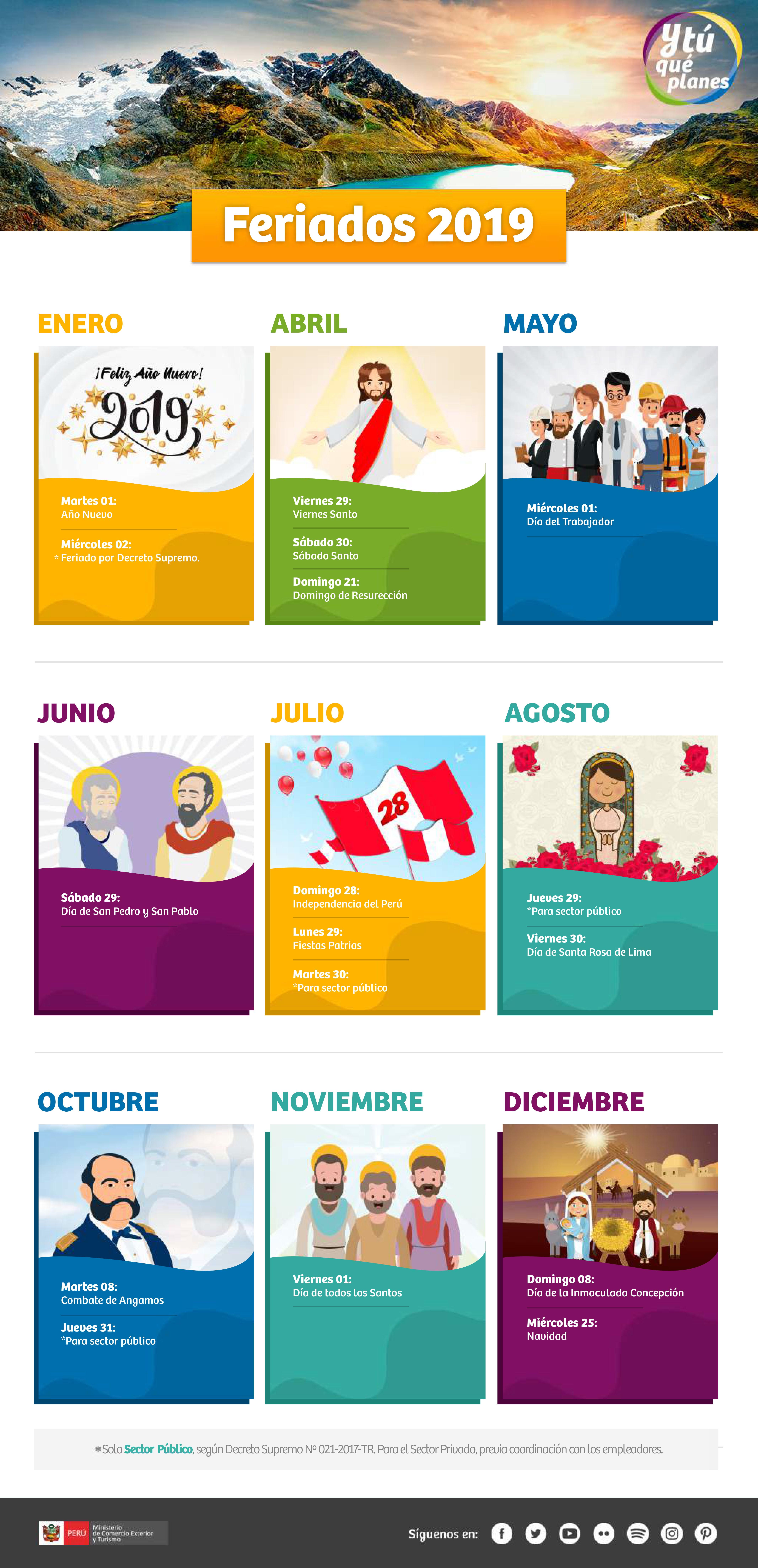 Calendario Festivo.Dias Feriados Y Festivos En Peru Peru Travel