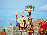 Inti Raymi represents the worship to the old Sun god of the Incas.