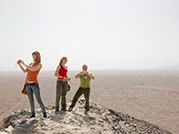 Tourists in the Nazca lines